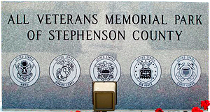 All Veterans Memorial Park welcome stone