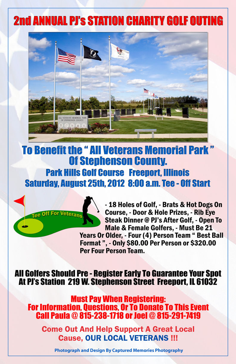 Veteran's Golf Tournament Poster