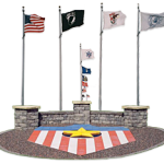 all-veterans-memorial-park-star-flags